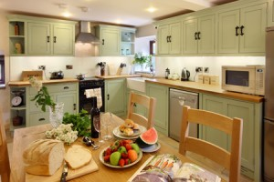 Luxurious Kitchen at Ridgehay  Farm Holiday Cottage